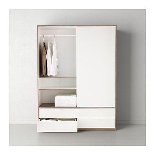 Ikea Flaxa Bed With Storage ~ TRYSIL Garderobe m skyvedører 4 skuffer IKEA 1698,