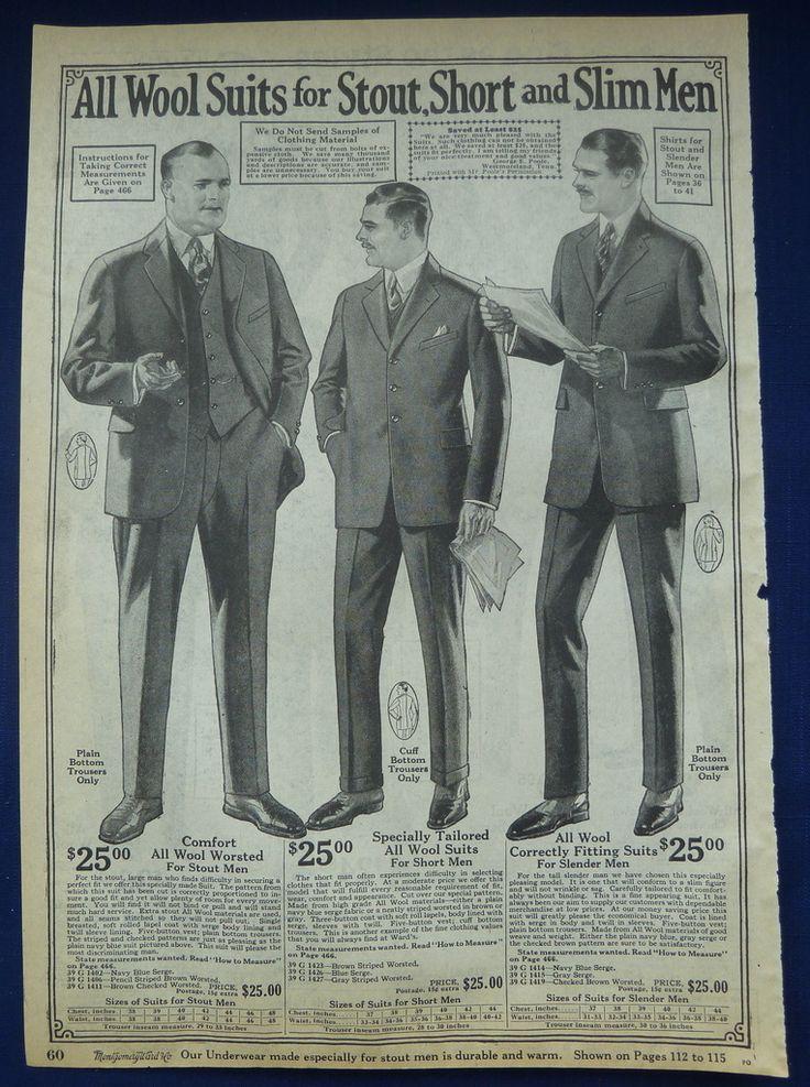 mens suits original vintage antique 1920 s wards clothing