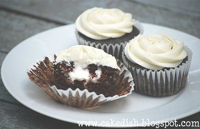 cream-filled chocolate cupcakes | Cupcakes | Pinterest