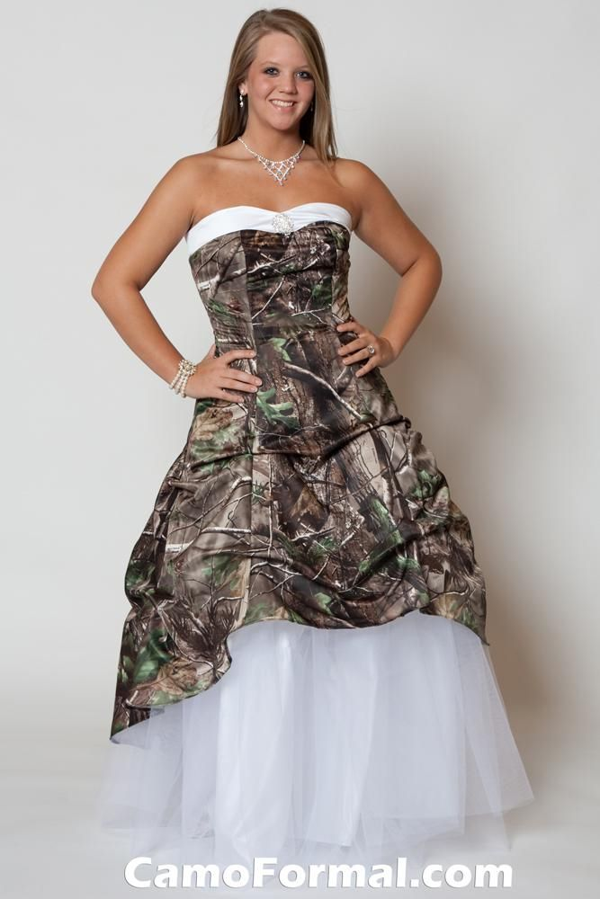 Camo prom dress all things i love pinterest for Wedding dresses camouflage pink