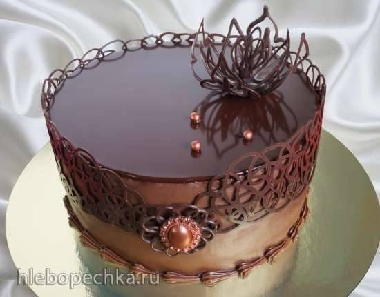 Украсить торт в шоколадной глазури