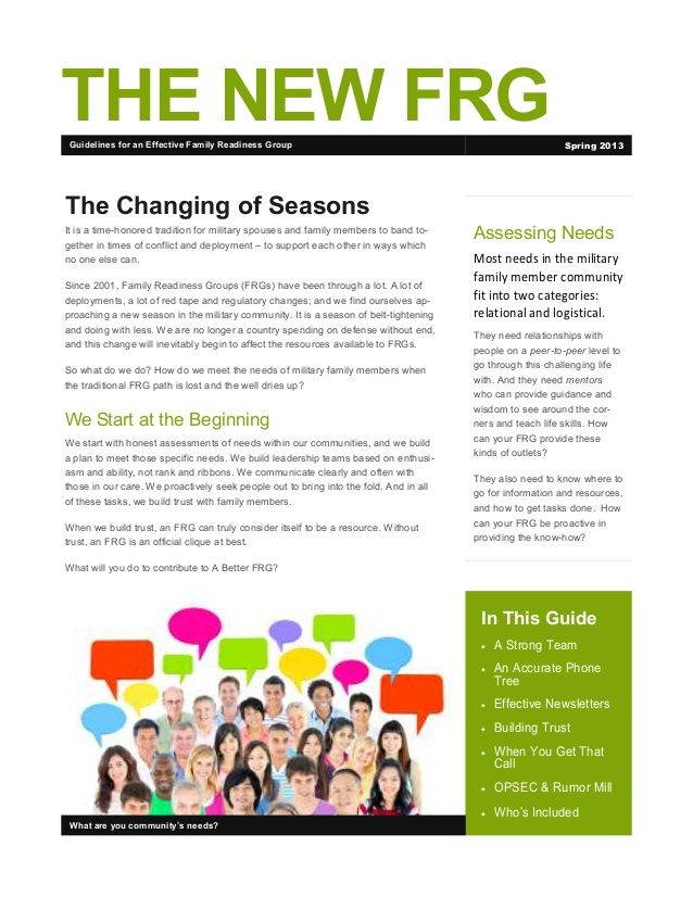 Army Frg Newsletter Template