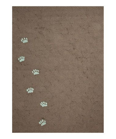 OMG I have to have this!     Take a look at this Brown Paw Print Rug by Jaipur Rugs on #zulily today!