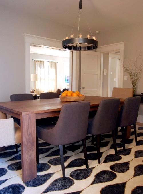 Dining room modern farm table for Modern transitional