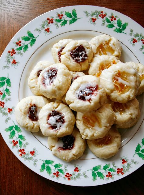 Almond Thumbprint Cookies | cookies/bars | Pinterest