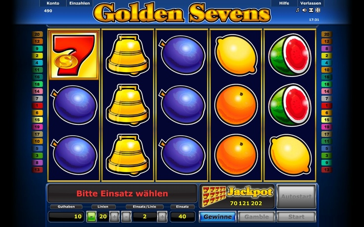 Golden Sevens is a colorful slot machine featuring various fruits, which you can play to multiply your Twists. You have a great chance of hitting the Twist jackpot thanks to 5, 10 or 20 paylines across 5 reels.