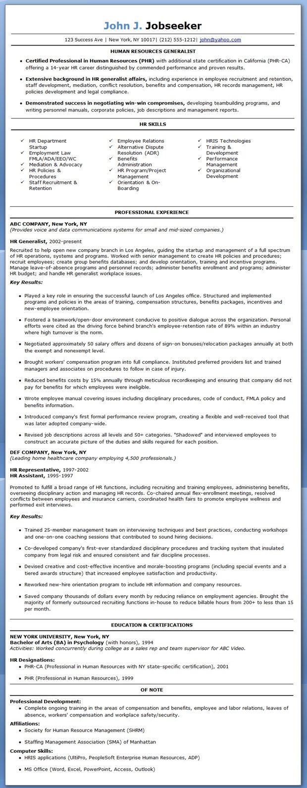 hr generalist resume sample hr generalist resume sample