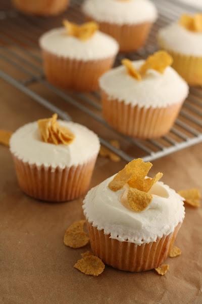 Momofuku Milk Bar Cereal Milk Cupcakes | Recipes - Have cake, eat it ...