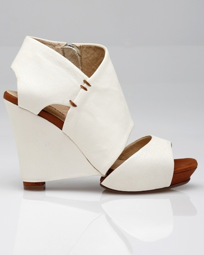 Madison / Shoes : peep toe leather wedge with cutout detailing. I need a pair, please