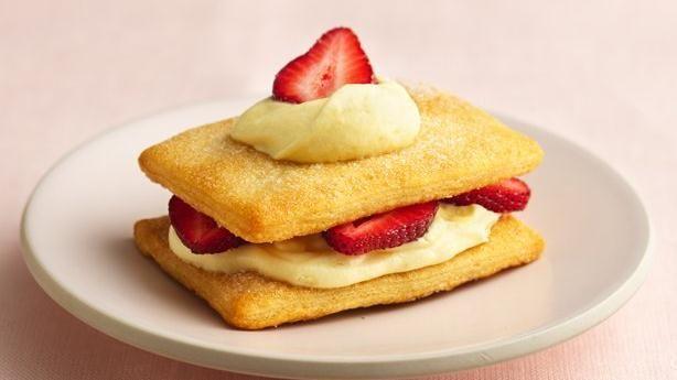 Crescent Strawberry Napoleons   Recipe