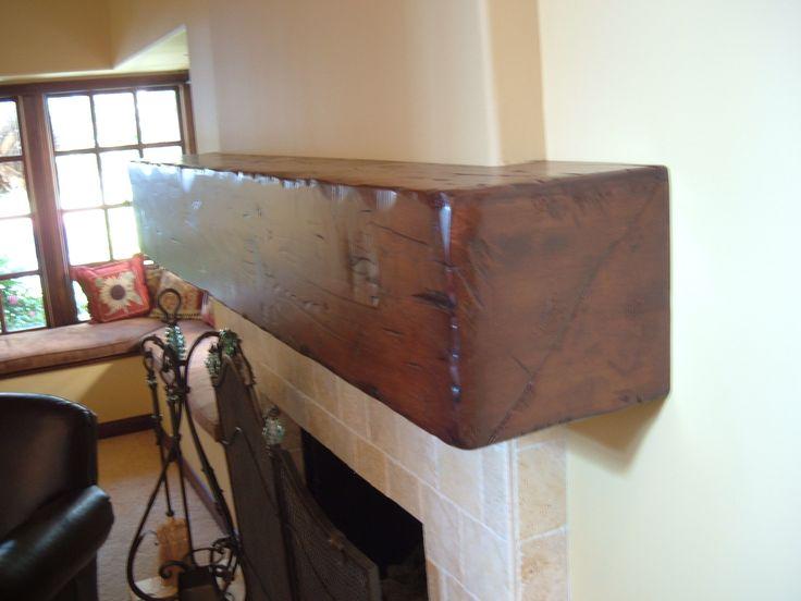 floating distressed alder mantel shelf fireplace mantels
