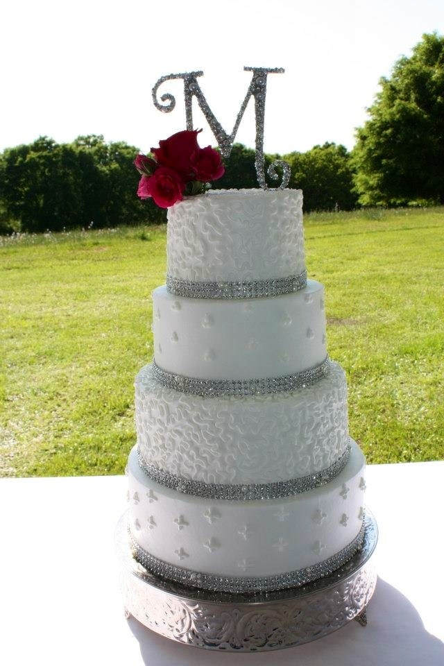 Wedding Cake Bling And Pearls Wedding Pinterest