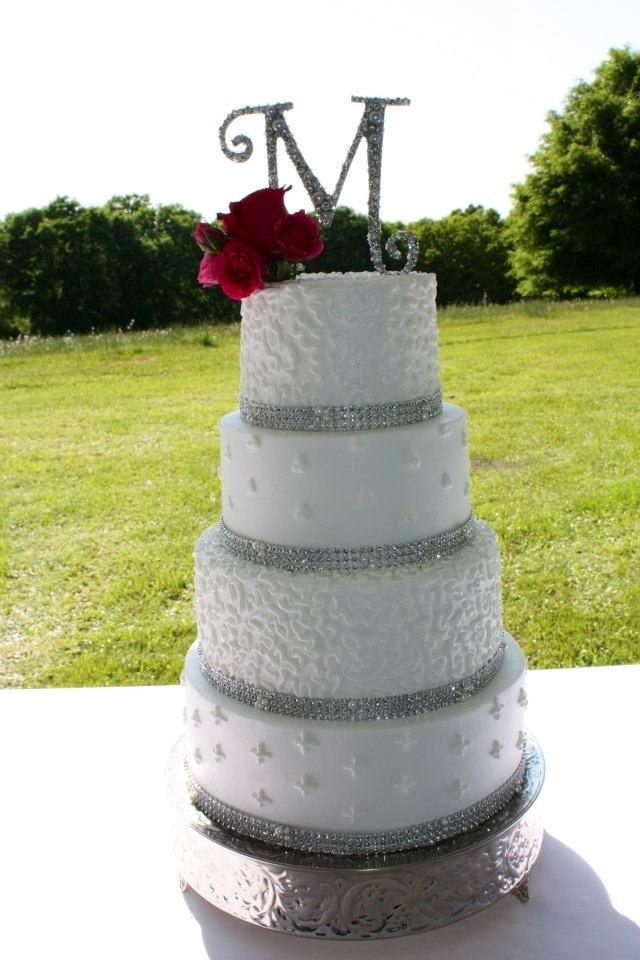 Wedding Cake Bling And Pearls Wedding Pinterest