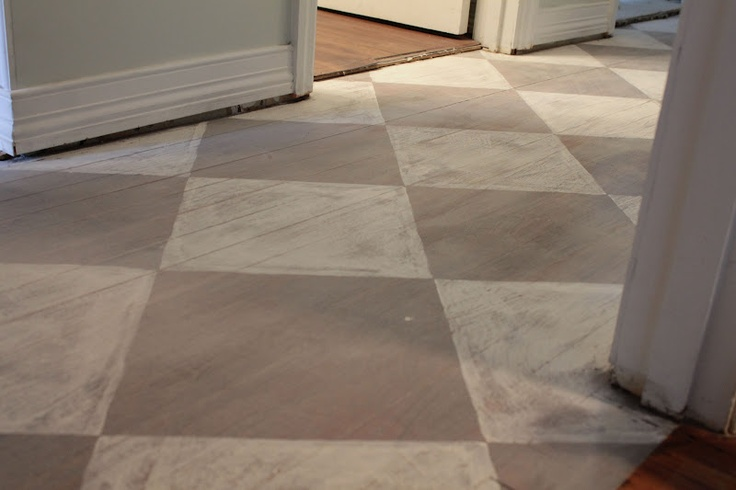 Annie sloan 39 s chalk painted floor distressing pinterest for Painting vinyl floors with chalk paint