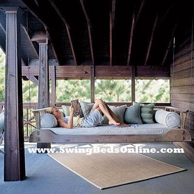 Swing bed outdoor 1800 s bed in twin full or baby bed