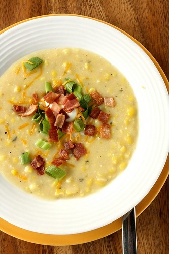 Spicy & Slightly Decadent Corn Chowder | recipes to try | Pinterest