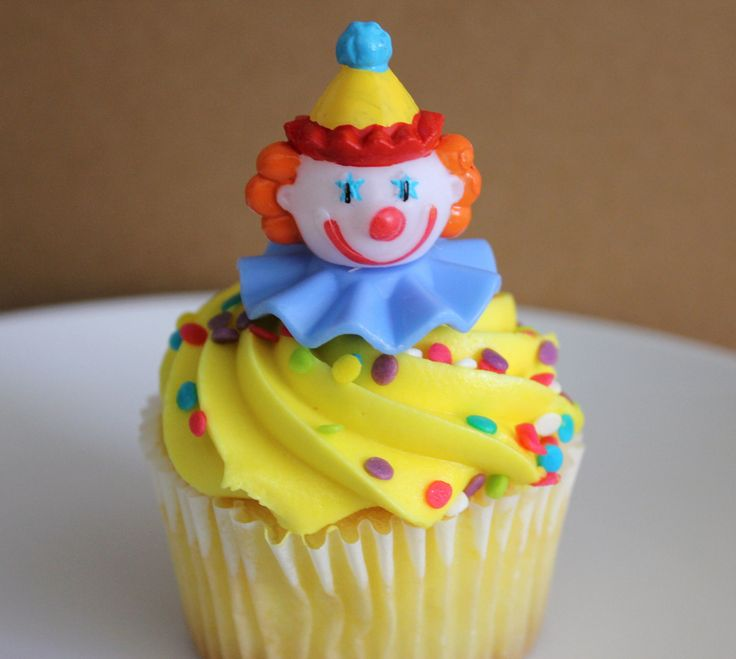 Circus Clown Cupcake Topper Picks