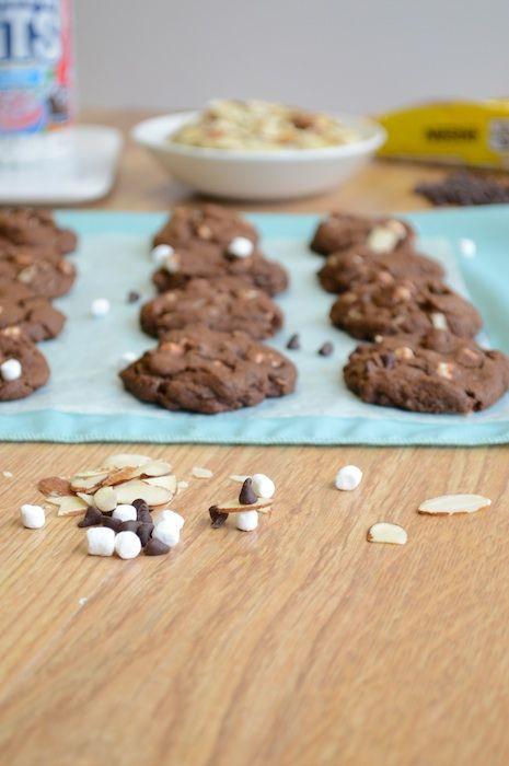 Mini Rocky Road Cookies 8