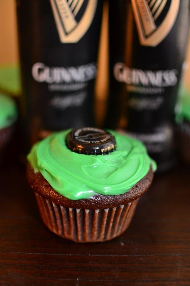 Chocolate Guinness cupcakes | food! | Pinterest
