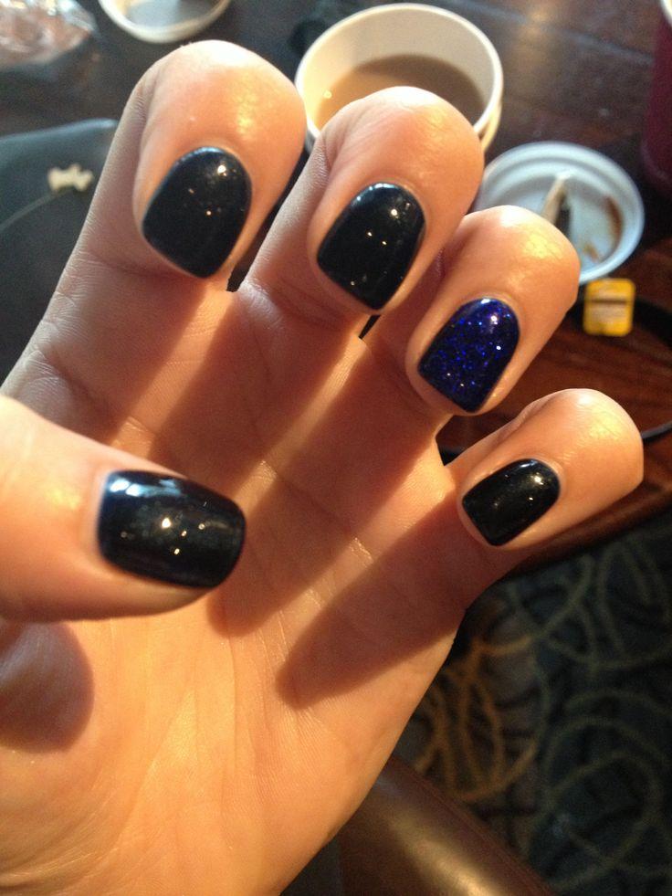Blue shellac nails | 8th grade graduation (promotion) | Pinterest