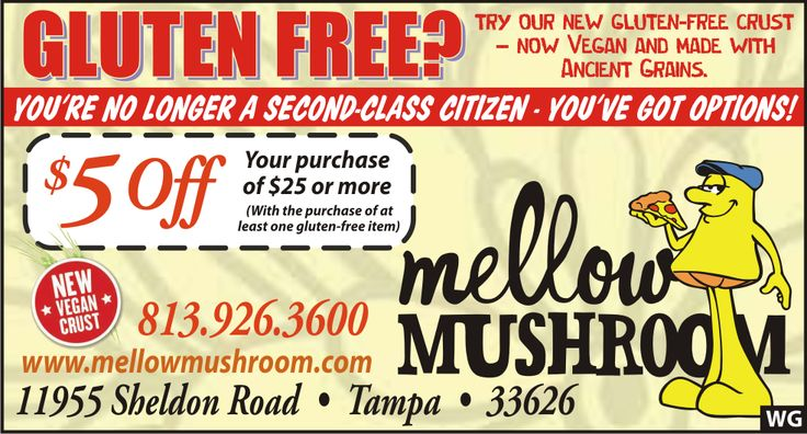 Discount coupons for mellow mushroom