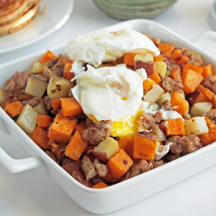 Breakfast for dinner - Sweet Potato & Sausage Hash Vernetta's note to...