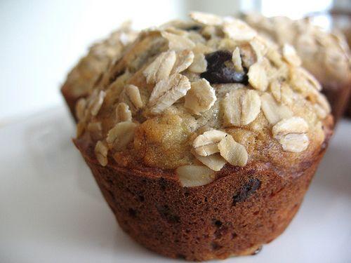 banana oatmeal chocolate chip muffins | Breakfast | Pinterest