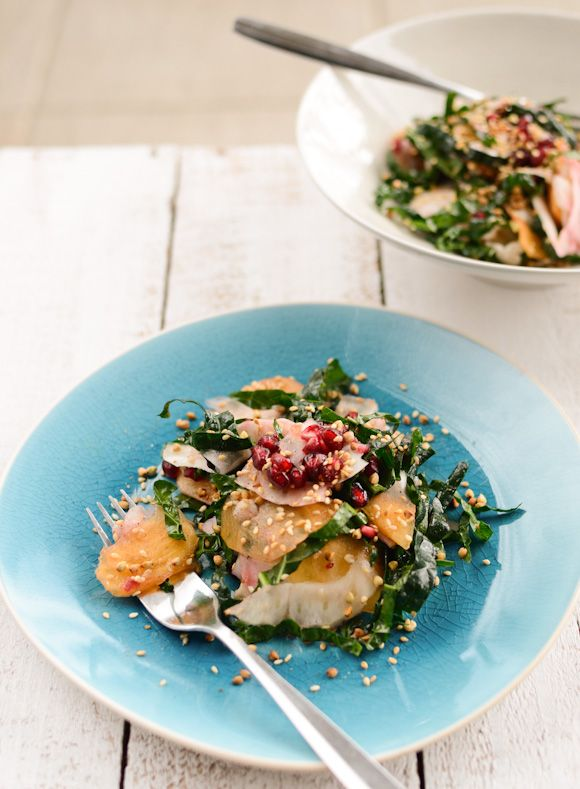 ... Foodie: Fennel and Persimmon Salad with Buckwheat-Sesame Sprinkle