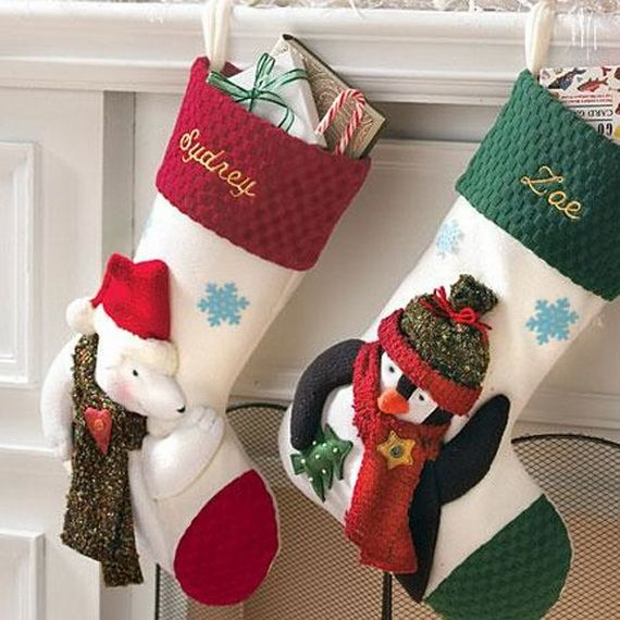 Fabulous Holiday Christmas Stockings Decorating Ideas
