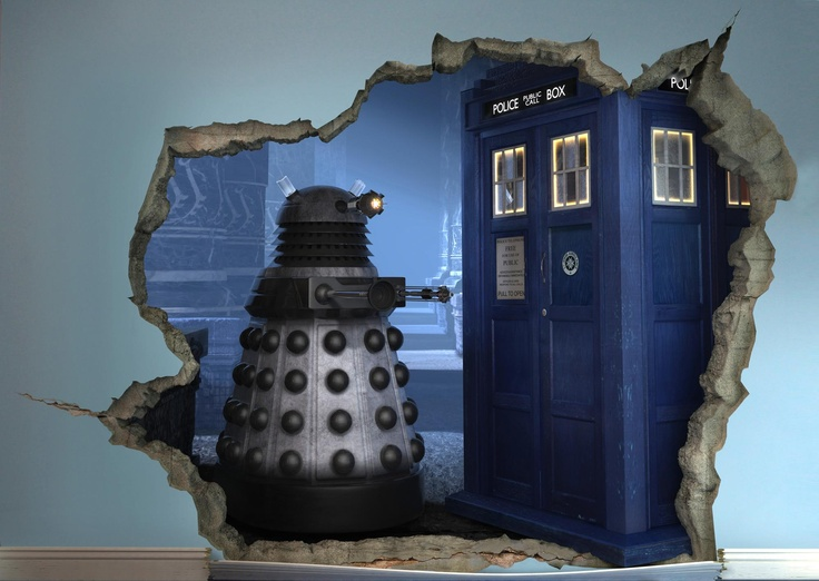 3d doctor who mural what s on my tv pinterest