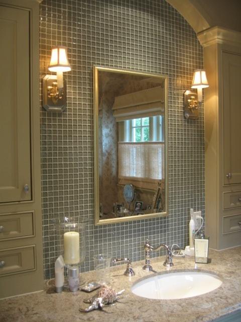 Tile Wall Behind Mirror Bath Pinterest