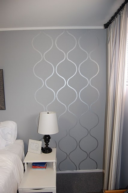 awesome wall stencil For the Home Pinterest