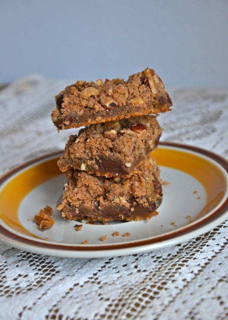 dark chocolate and hazelnut blondies   sweet recipes   Pinterest