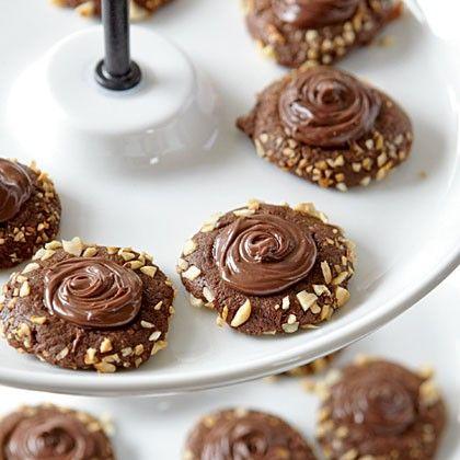 Chocolate-Hazelnut Thumbprints | Thumbs Up for Thumbprint Cookies ...
