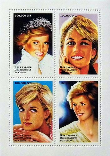 Princess diana quot through the years sketches quot commemorative postage