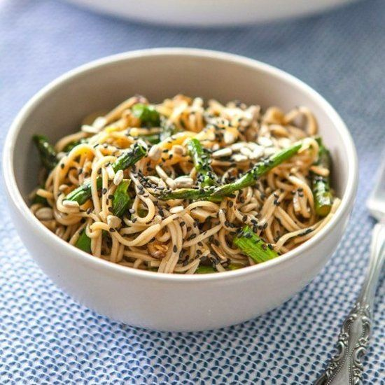 Miso-Roasted Asparagus Soba Noodle Salad | Recipes to Try | Pinterest