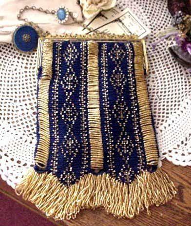 Beaded Bags Patterns Free : Celeste Beaded Bag Purse Pattern by ArhyonelAntiques on Etsy, $9.00