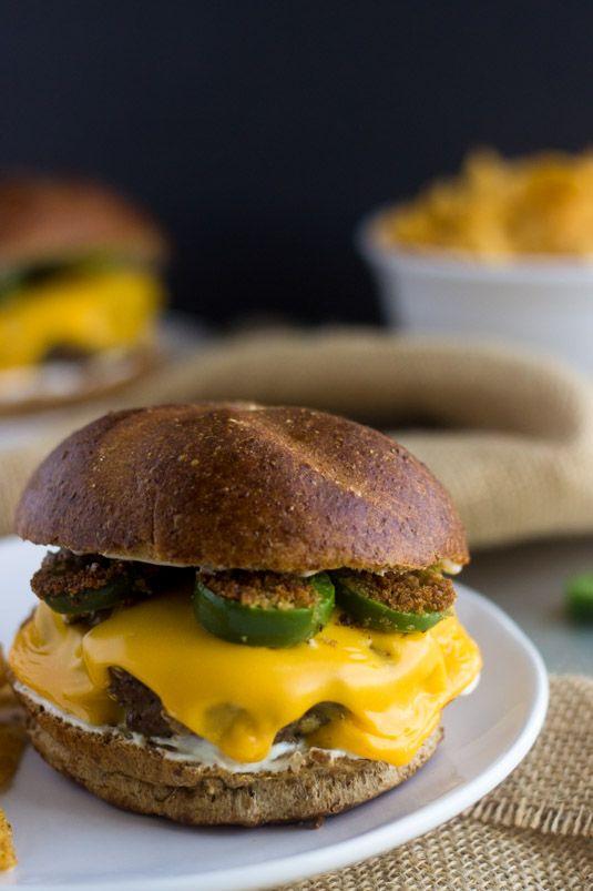 Cheesy Jalapeno Ranch Burger - Your new favorite #burger! - Food Faith ...
