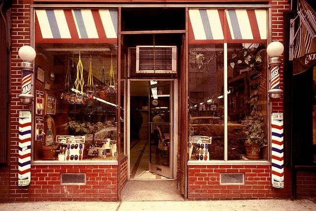 Barber, New York window display Pinterest