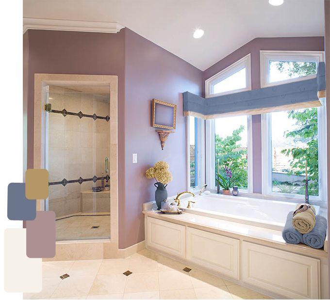 Mauve color scheme ideas for the home pinterest for Mauve bathroom ideas