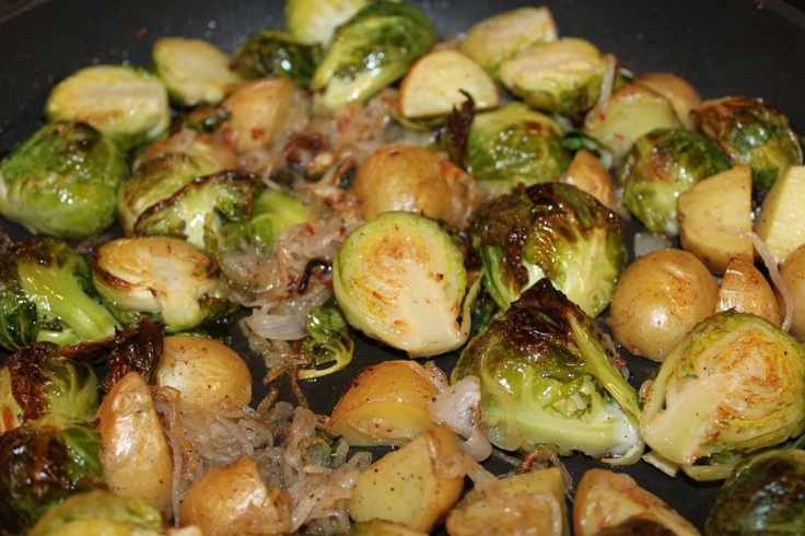 Roasted Brussels Sprouts with Pancetta | Yum Yum | Pinterest