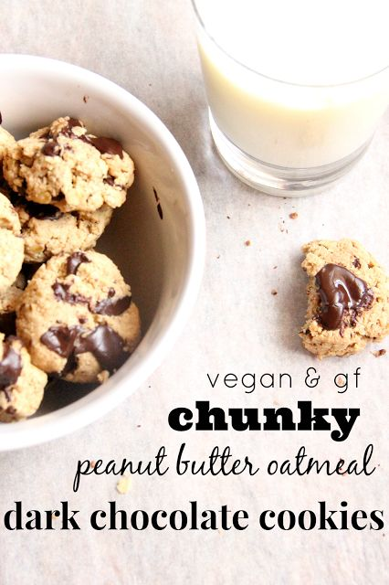 My Happy Place: chunky peanut butter oatmeal dark chocolate cookies ...