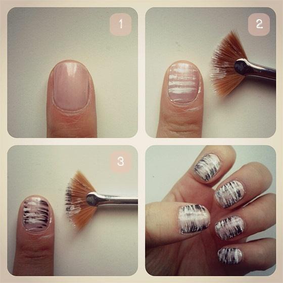 Fan brush nail art tutorial | Nails | Pinterest