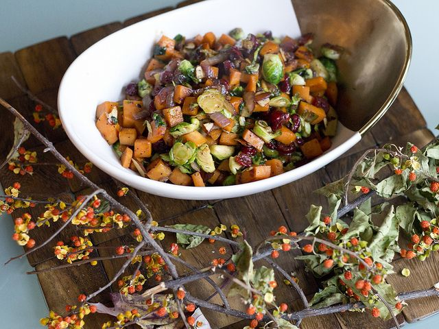 brussel sprout and sweet potatoe hash by jenloveskev, via Flickr