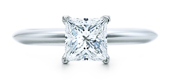 tiffany's princess cut engagement ring