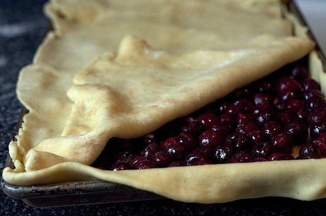 Sour Cherry Slab Pie | Taste Sensations | Pinterest