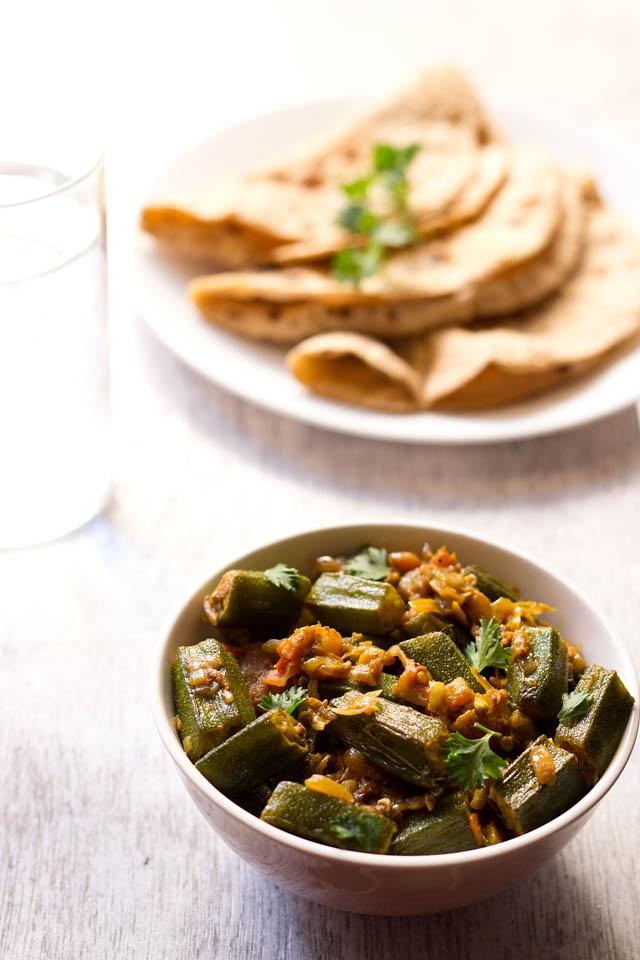 bhindi masala: lightly spiced semi dry okra curry #bhindimasala # ...