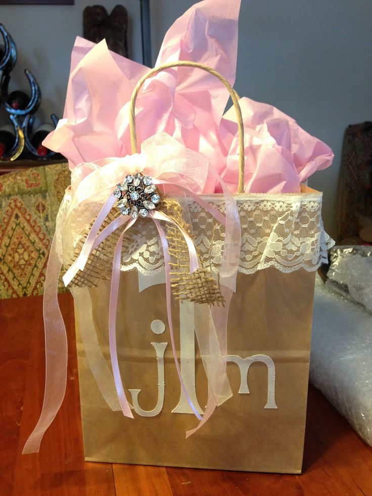 Ideas For Wedding Gift Bags : Wedding gift bag My Favorite Wedding Ideas Pinterest