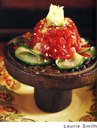 Tuna Tartare with Cucumber Salad and Avocado Recipe | Leite's ...