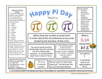 pi day placemat and activities. Black Bedroom Furniture Sets. Home Design Ideas